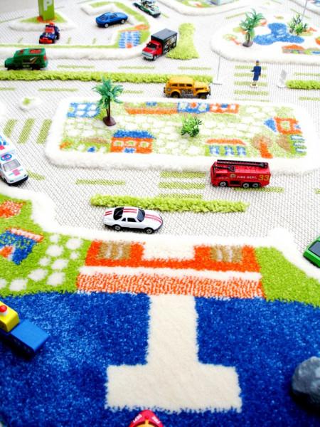 Covor pentru Copii 3D Orasul la Mare 100x150cm