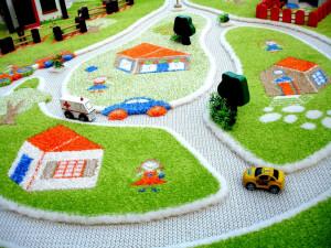 Covor 3D copii interactiv Ferma 134x180cm