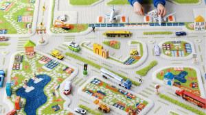 Covor pentru Copii 3D Orasul la Mare 134x180cm