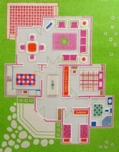 Covor Groovy Green Playhouse 80x100cm