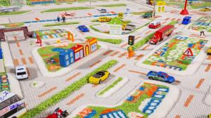 Covor pentru Copii 3D Orasul la Mare 200x200cm