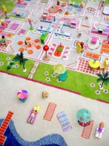 Covor pentru Copii 3D Casa de Vacanta 134x180 cm