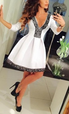 Bela haljina sa cipkom