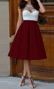 Belo roze top haljina