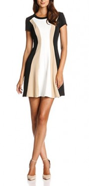 Crna haljina sa belo bez detaljima