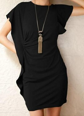 Dnevna haljina sa neobicnim rukavima