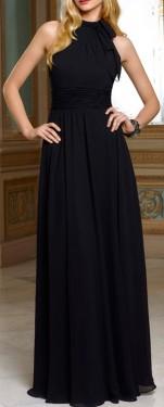 Duga maturska haljina sa vezivanjem