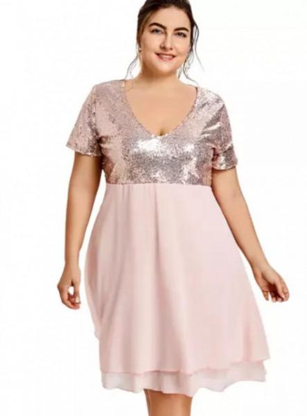 Puder roze haljina za svecane prilike
