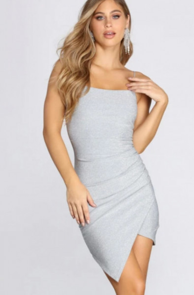 Srebrna svecana haljina