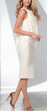 Bela haljina sa sirom cipkicom