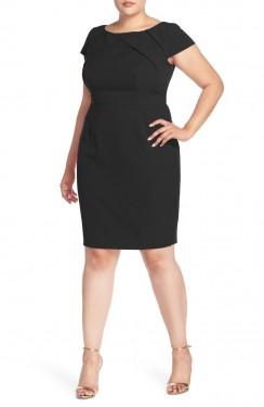 Crna poslovna haljina za punije dame