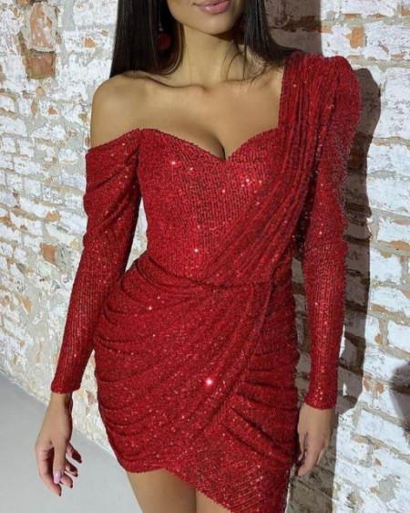 Crvena haljina svetlucava
