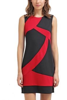 Dnevna crno crvena haljina