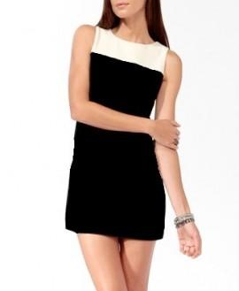 Dnevna haljina crno-bela
