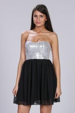 Neobicna srebrna haljina