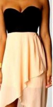 Top haljina crno - bez