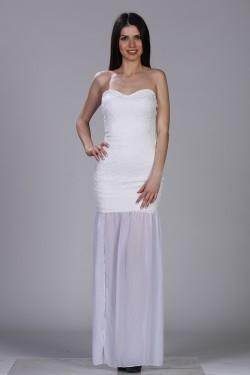 Bela duga haljina