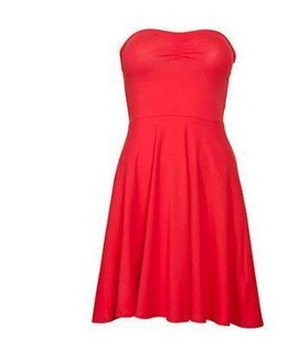 Crveni top haljina