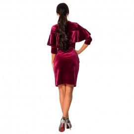 Teget haljina sa karnerom od plisa
