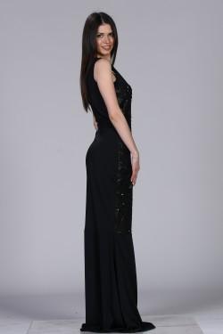 Crna duga haljina za maturu