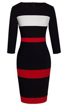 Crno - bela haljina