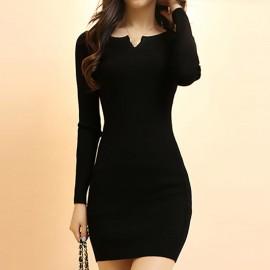 Dnevna haljinica sa malim V - izrezom