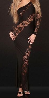 Duga svecana haljina sa cipkom