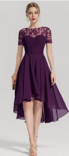 Ljubicasta svecana haljina