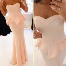 Roze duga haljina sa karnerima
