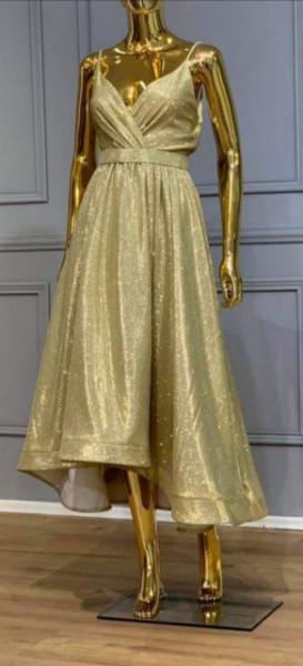 Svetlucava zlatna haljina