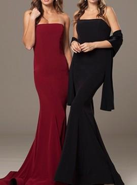 Bordo duga top haljina