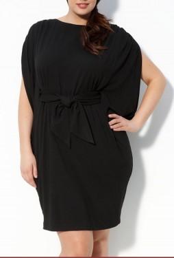 Crna haljina na vezivanje