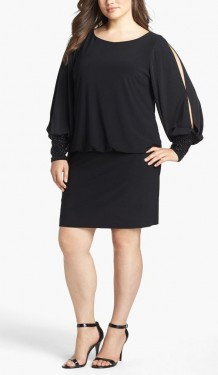Crna haljina sa cirkonima na mazetnama