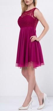 Ljubicasto ciklama haljina