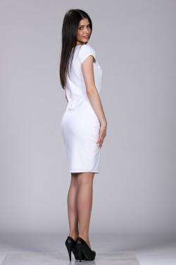 Bela haljina sa kocka izrezom