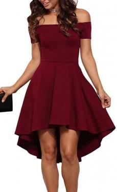 Bordo haljina sa gloknom