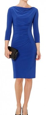 Kraljevsko plava haljina sa naborima i falticama