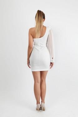 Kratka bela haljina