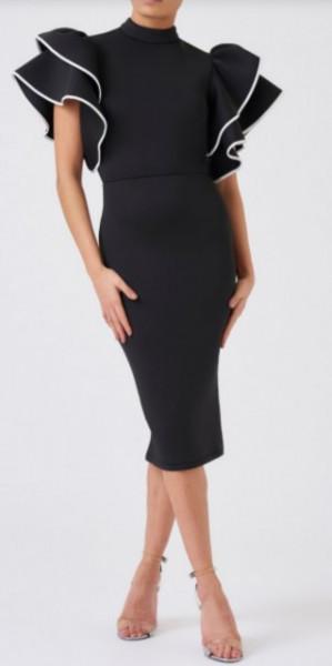 Crna haljina sa karnerima