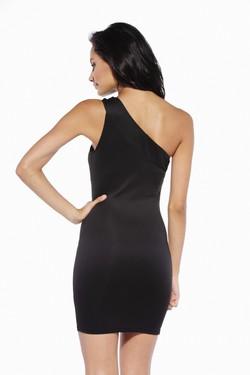 Haljina na jedno rame sa crnom mrezicom