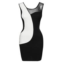 Crno bela sexy haljina