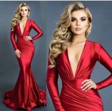 Duga crvena sirena haljina