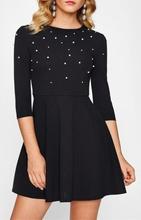 Crna haljina sa biserima