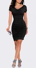 Crna haljina sa dva nabora