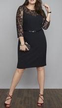 Crna haljina sa srcastim izrezom  za punije dame