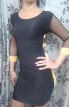 Crno zuta haljina s,m vel