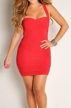 Crvena haljina na bretele