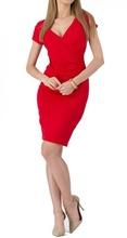 Crvena haljina na preklop