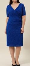 Kraljevsko plava cipkasta haljina