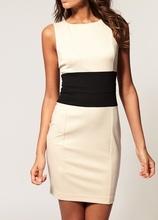 Crno bela dnevna haljinica
